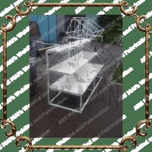 Металлические стойки магазинные витринные изготовление на заказ в Алматы