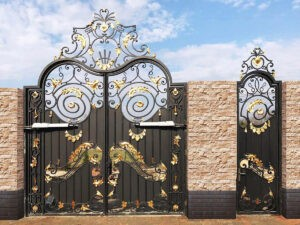 Кованные стальные ворота «Мечта Арсалана»