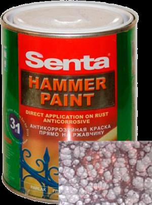 Краска молотковая Senta HAMMER PAINT антикоррозийная коричневая