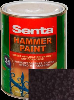 Молотковая краска по металлу Senta HAMMER шоколадная