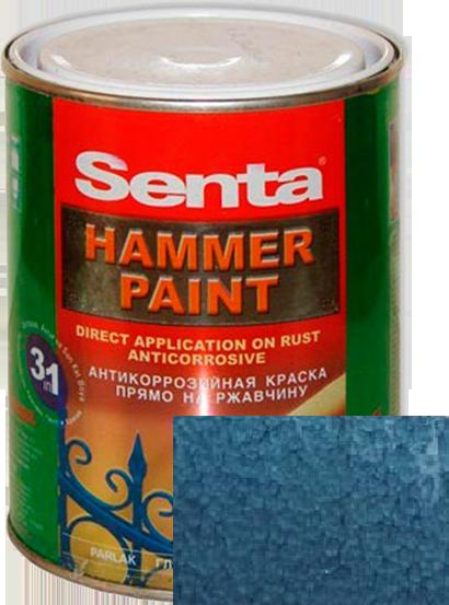 Краска молотковая Senta HAMMER синяя