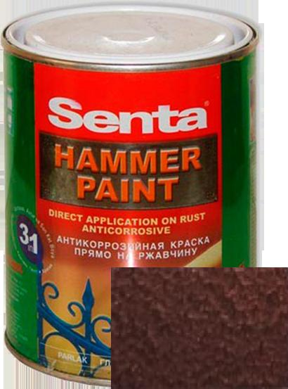 Краска для металла молотковая на ржавчину темно-кофейная
