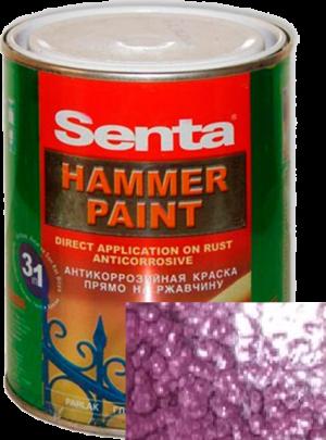 Краска молотковая антикоррозийная Senta HAMMER вишневая