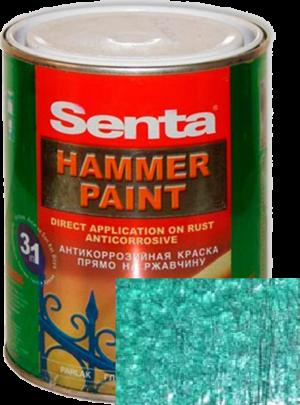 Молотковая эмаль Senta HAMMER PAINT зеленая